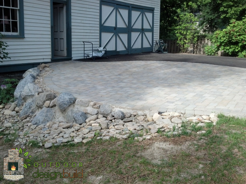 driveway with boulders