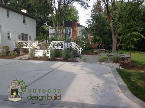 backyard redesign cincinnati with fire pit