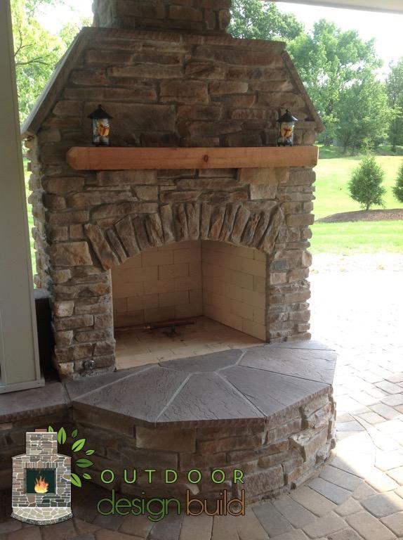 Cincinnati Outdoor Fireplace