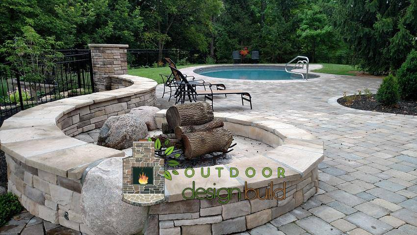 Cincinnati Firepit and Pool Patio