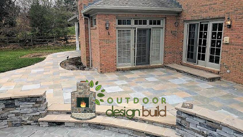 Cincinnati Slate Paver Patio