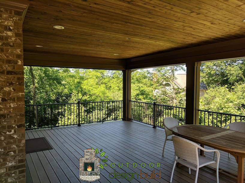 Covered Deck with Railing