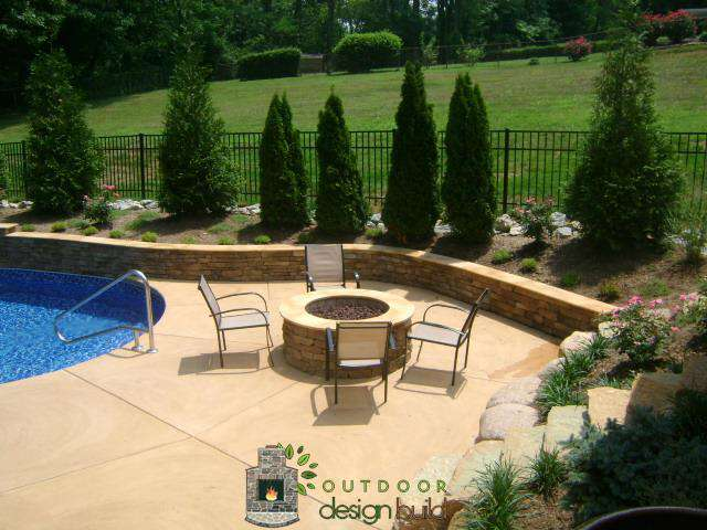 Pool Patio Fire Pit