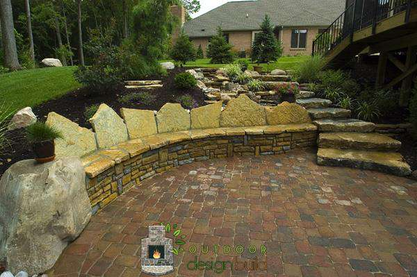 Natural Stone Seatwall